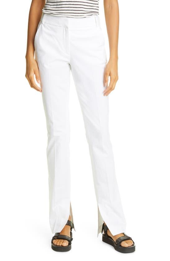 Frame Pants SLIT HEM SLIM COTTON BLEND PANTS