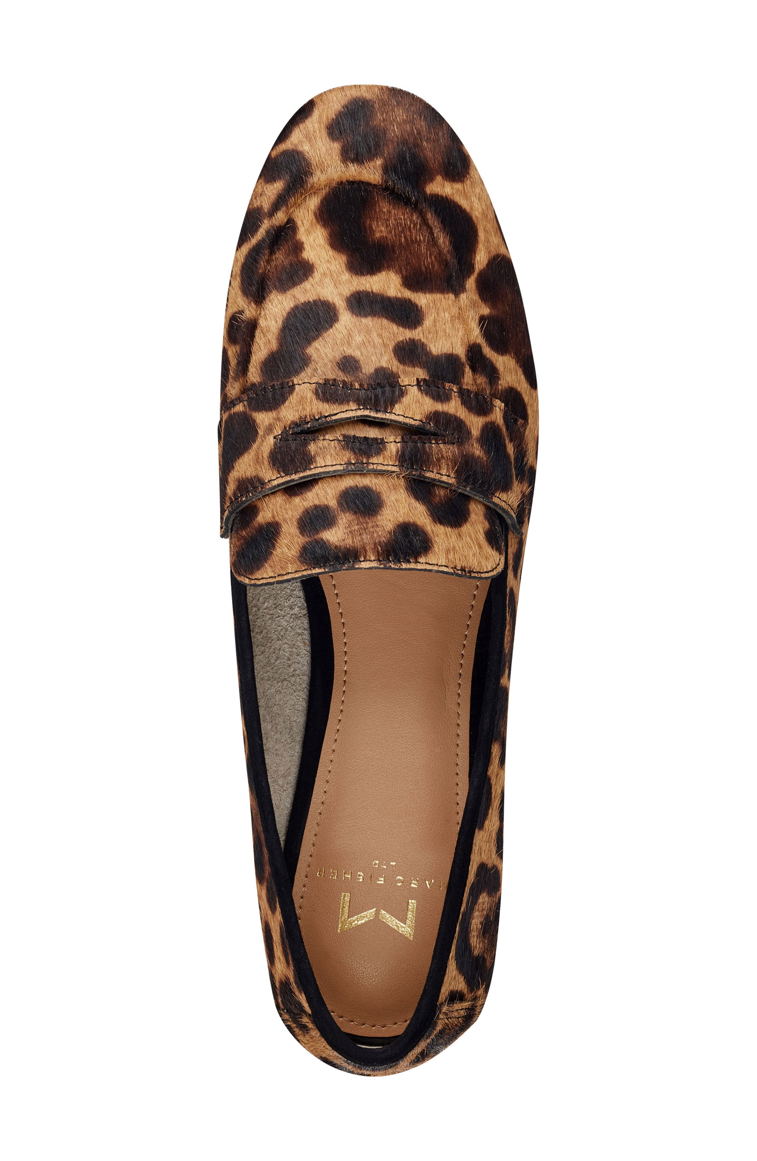 ,                             Chang Penny Loafer,                             Alternate thumbnail 5, color,                             LEOPARD PRINT CALF HAIR