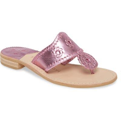 Jack Rogers Metallic Jacks Flip Flop- Pink