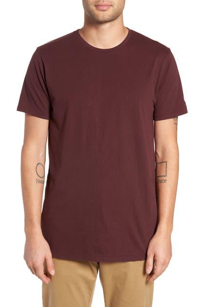 Zanerobe T-shirts FLINTLOCK LONGLINE CREWNECK T-SHIRT