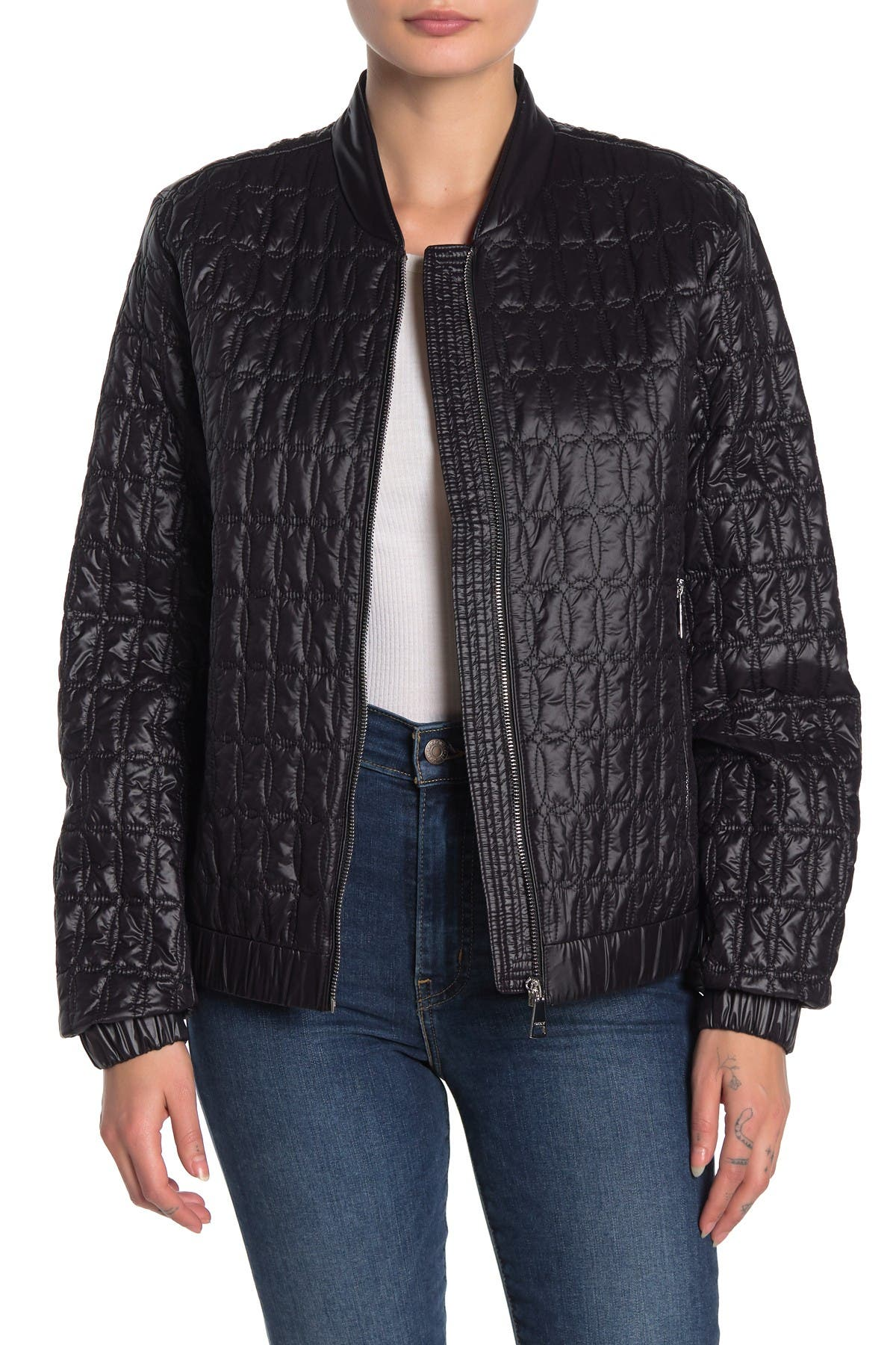 DKNY womens Dkny Quilted Packable Jacket With Bag