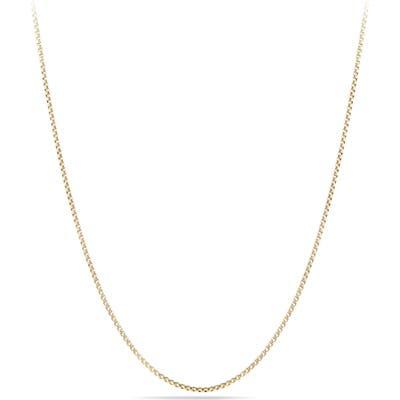 David Yurman Box Chain Necklace In 18K Gold