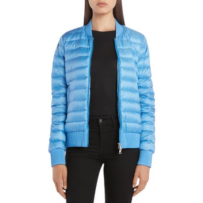 Moncler Abricot Down Bomber Jacket, (fits like 8-10 US) - Blue