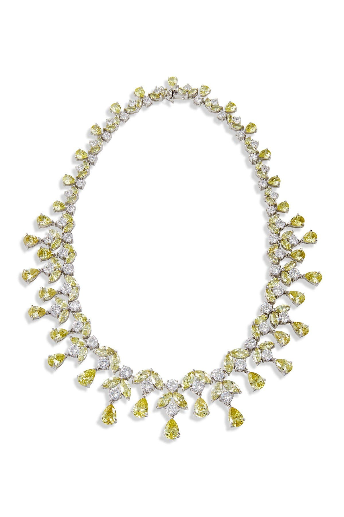 Image of Savvy Cie Sterling Silver Two-Tone Statement Necklace