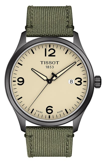 Image of Tissot Men's Gent XL Woven Strap Watch, 42mm