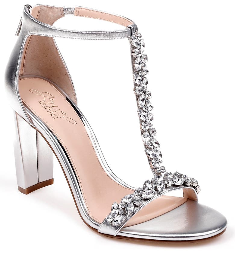 JEWEL BADGLEY MISCHKA Morley Sandal, Main, color, SILVER