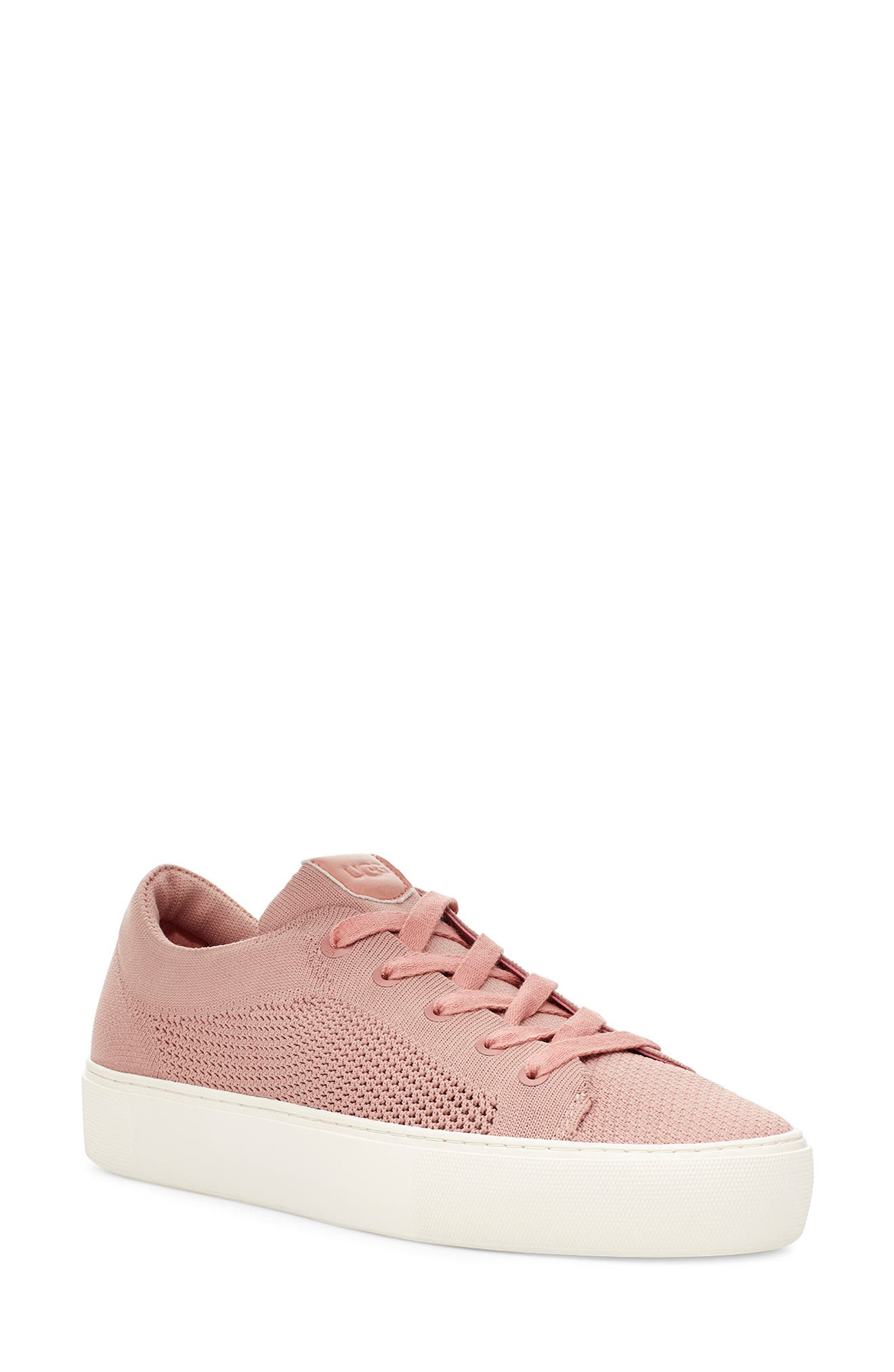 A breezy knit upper elevates the warm-weather appeal of a street-chic lace-up sneaker grounded by a chunky platform cupsole. Style Name: UGG Zilo Knit Platform Sneaker (Women). Style Number: 5999378. Available in stores.