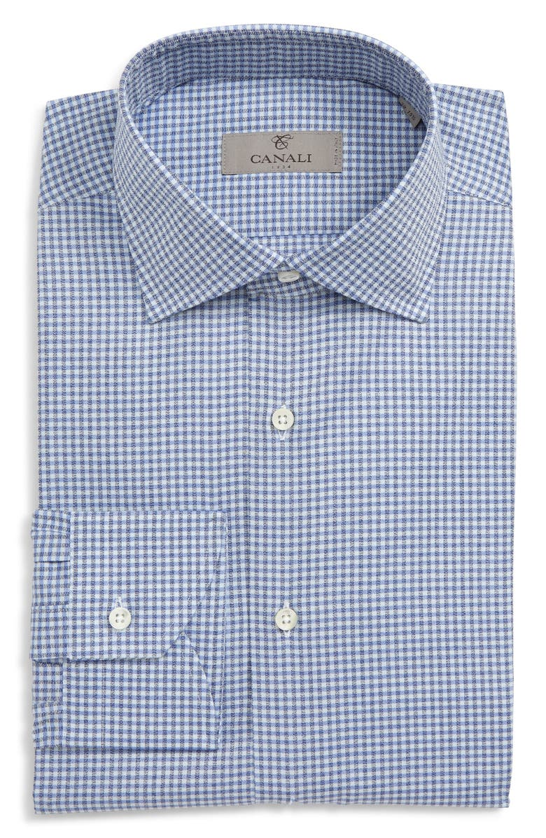 CANALI Slim Fit Check Dress Shirt, Main, color, 400