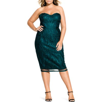 Plus Size City Chic Antonia Strapless Sheath Dress