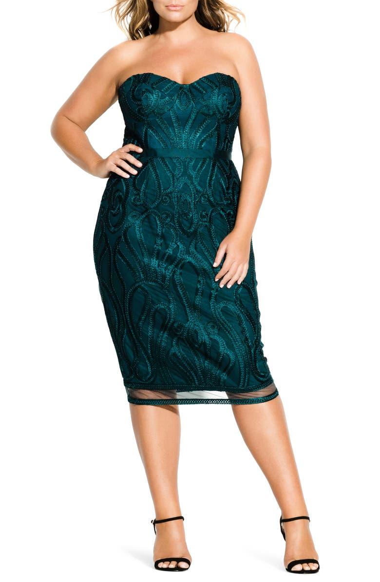 Antonia Strapless Sheath Dress