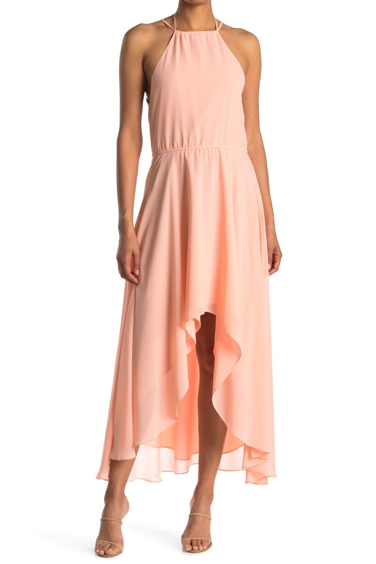 Image of HALSTON High Neck Dress