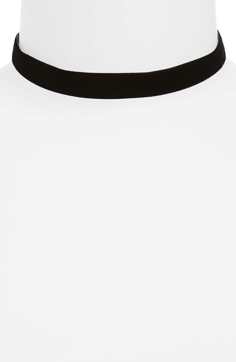 BP. Velvet Choker, Main, color, 001