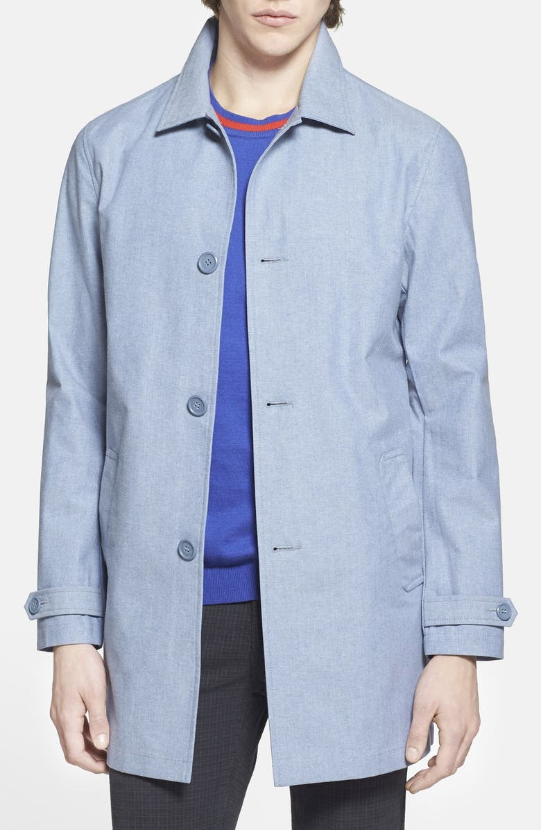 TOPMAN Single Breasted Mac Coat, Main, color, 400