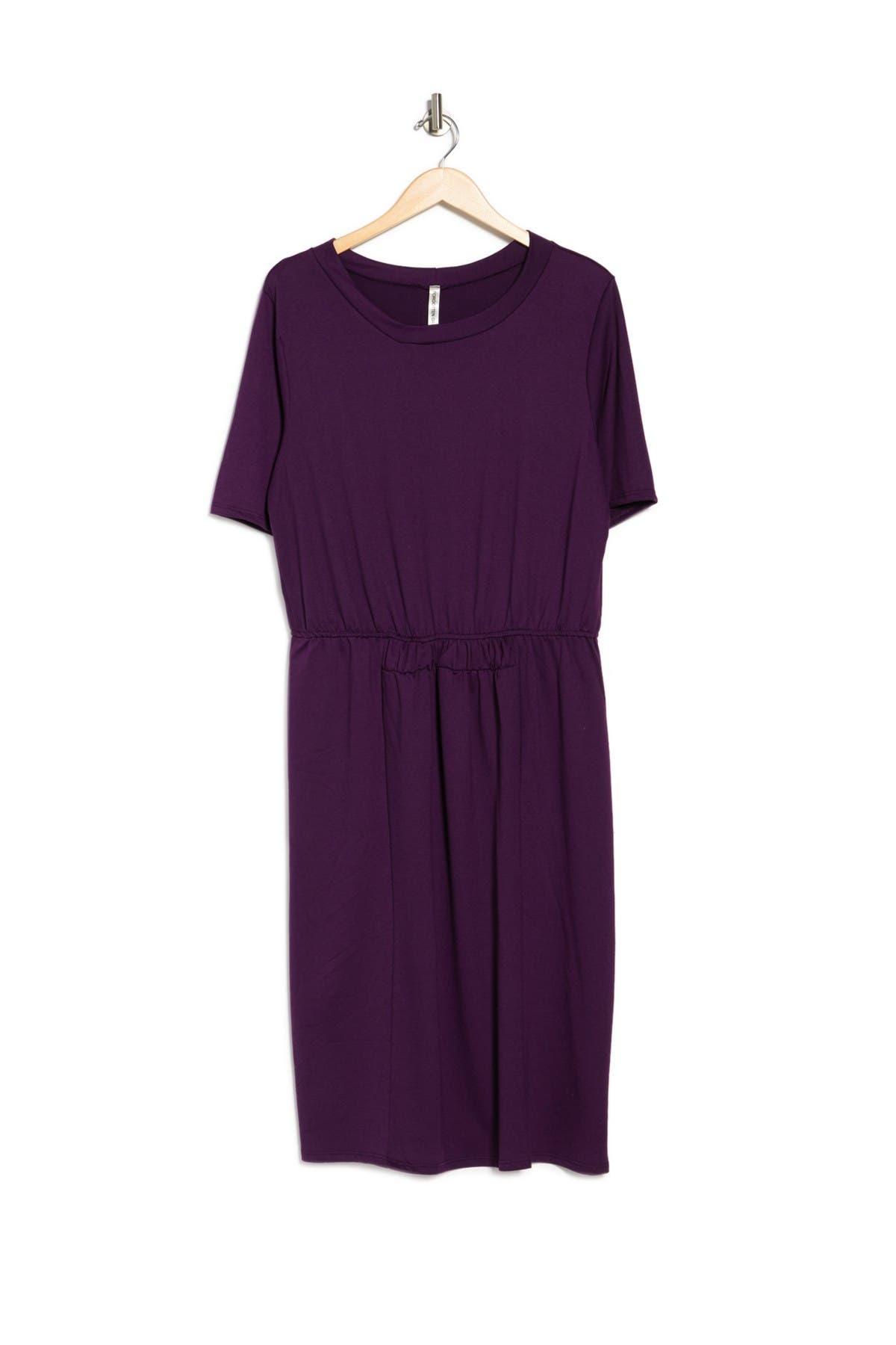 Image of Forgotten Grace Short Sleeve Smock Waist Dress