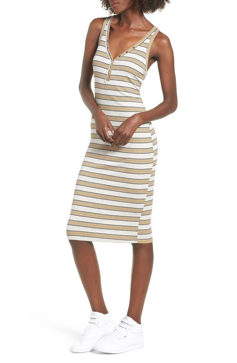 ALL IN FAVOR Rib Knit Tank Dress, Main, color, 020