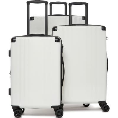 Calpak Ambeur 3-Piece Metallic Luggage Set - White