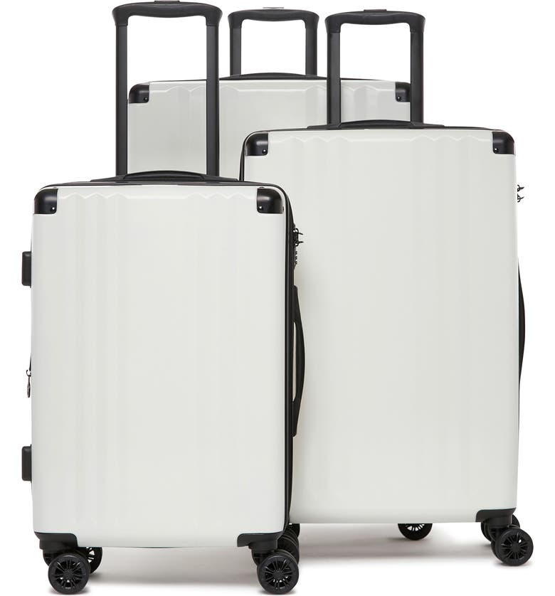 CALPAK Ambeur 3-Piece Metallic Luggage Set, Main, color, WHITE