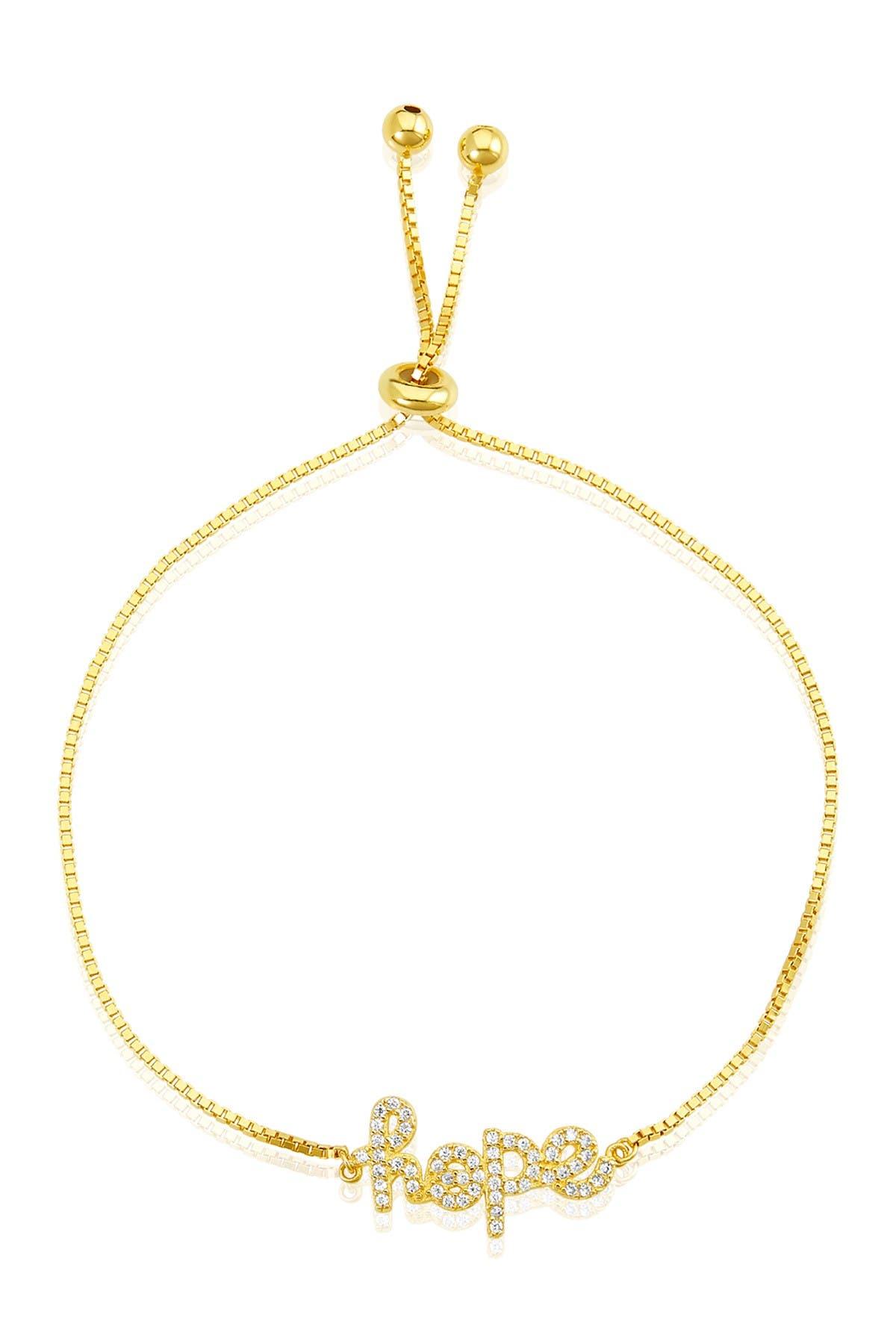 Image of ADORNIA 14K Gold Vermeil Hope Bolo Bracelet