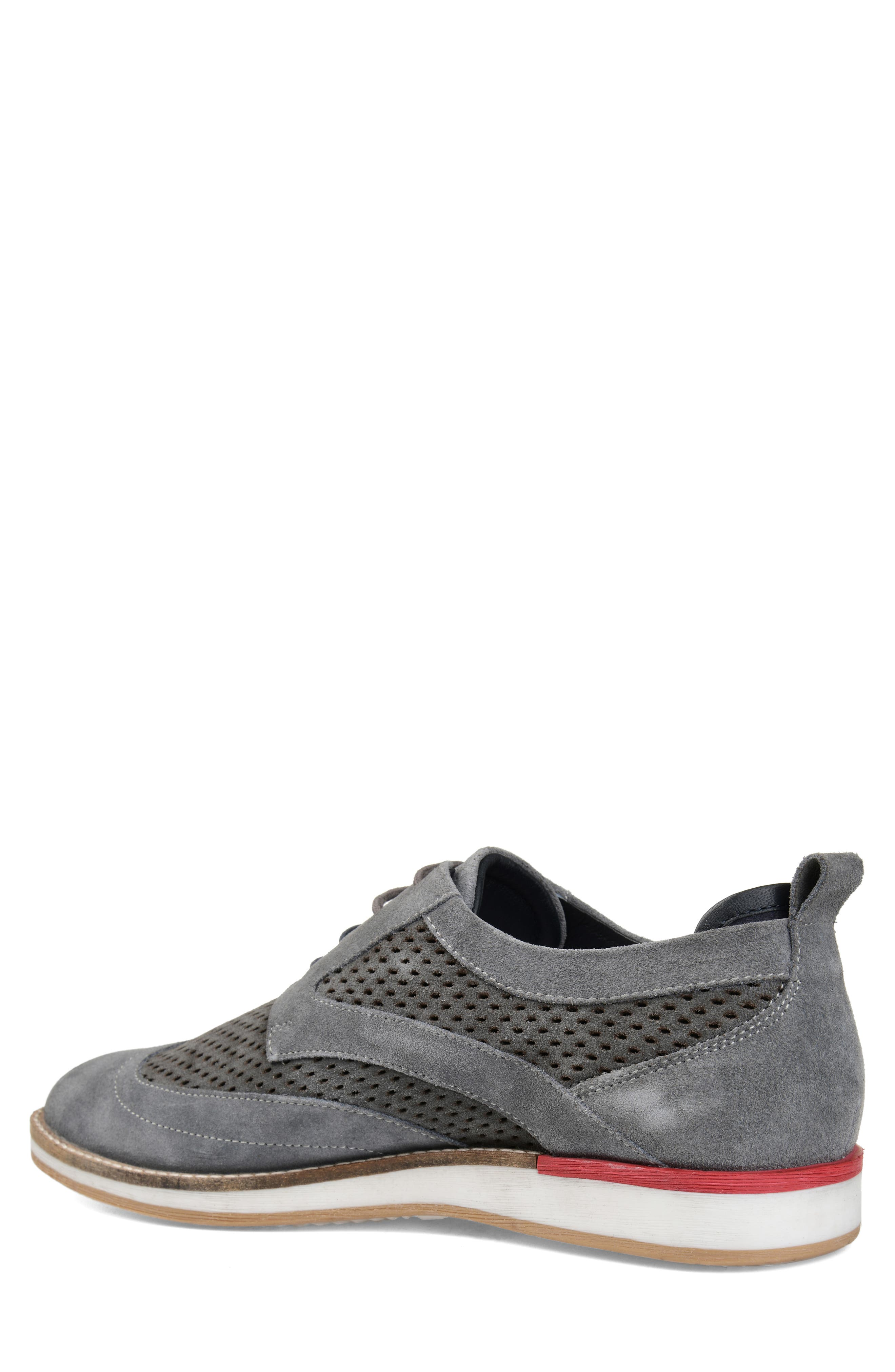 ,                             Jett Perforated Wingtip,                             Alternate thumbnail 2, color,                             GREY SUEDE