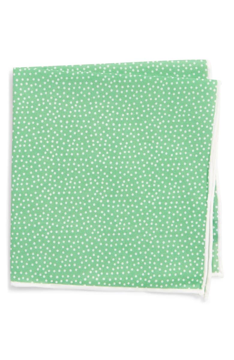 SOUTHERN TIDE Sagamore Spots Cotton & Silk Pocket Square, Main, color, 300