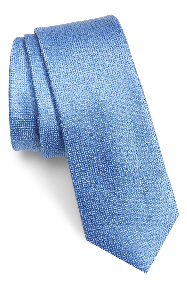 1901 Torres Solid Skinny Tie, Main, color, BLUE