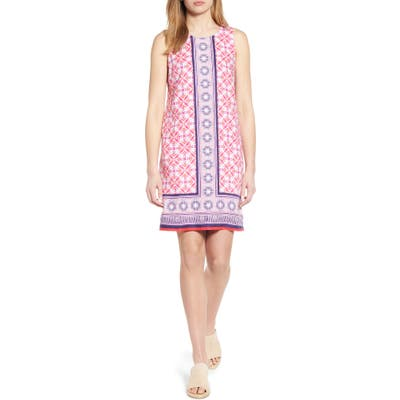 Tommy Bahama Tropical Terrazza Linen Shift Dress, Pink