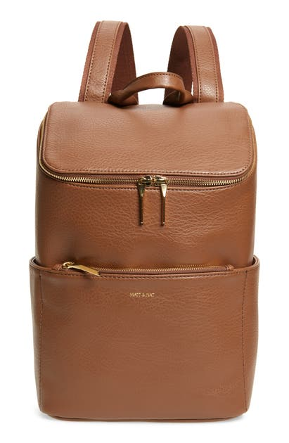 Matt & Nat 'BRAVE' FAUX LEATHER BACKPACK - BROWN