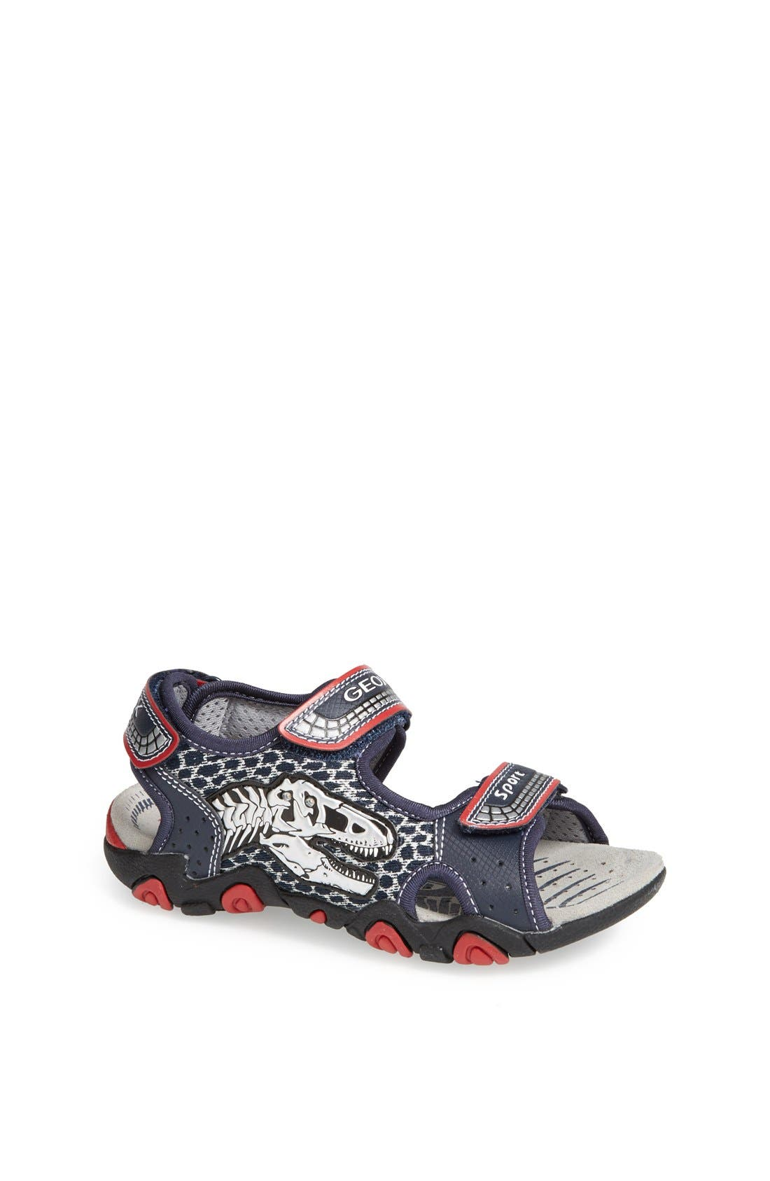 Geox 'Strike' Dinosaur Light-Up Sandal