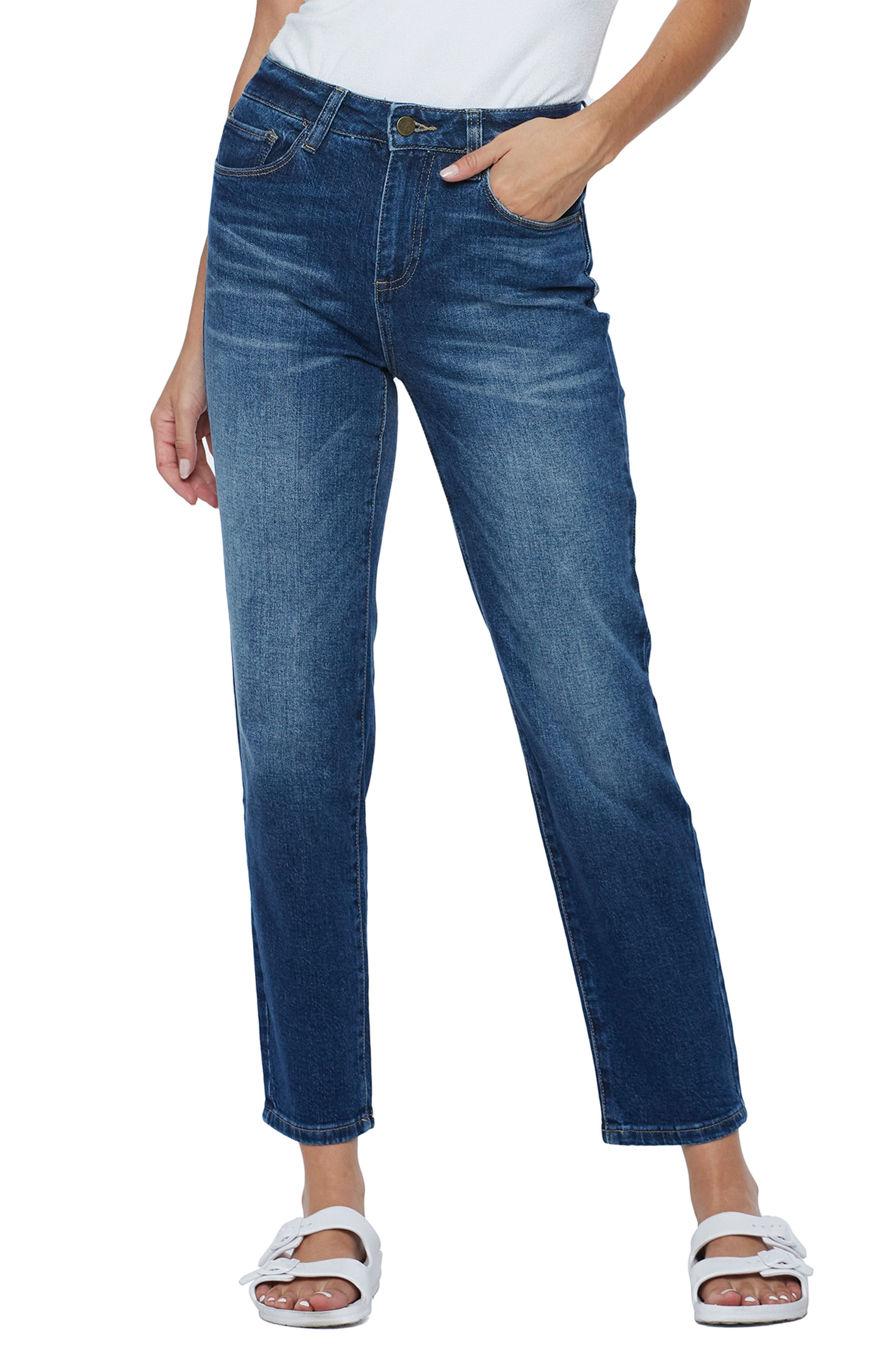 e Clever Slim Straight Leg Jeans