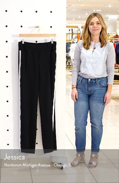 Mikka Side Stripe Wool Pants, sales video thumbnail
