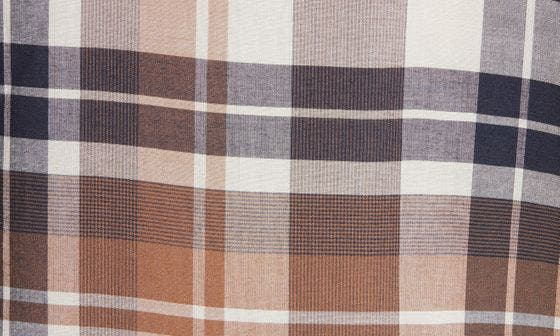 WASHED BROWN PLAID