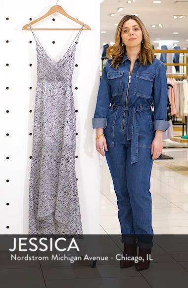 Animal Print Crossback Maxi Dress, sales video thumbnail