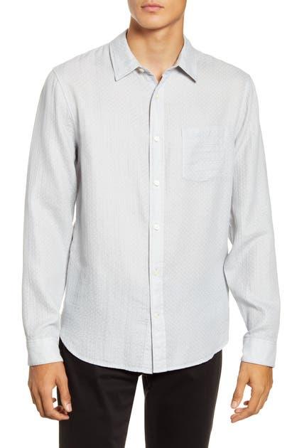 Vince T-shirts CLASSIC FIT DOUBLE FACE BUTTON-UP SHIRT