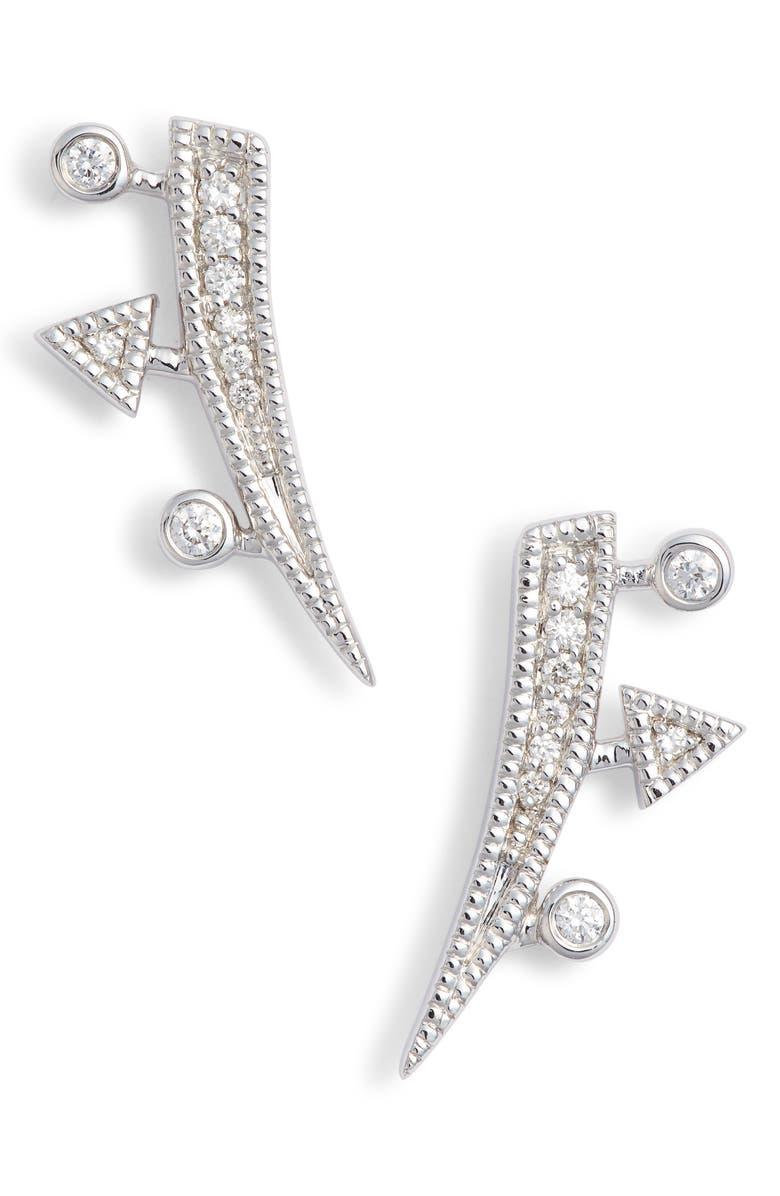 DANA REBECCA DESIGNS Diamond Ear Crawlers, Main, color, WHITE GOLD/ DIA