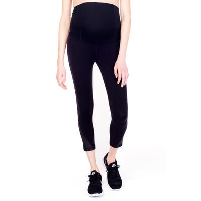 Ingrid & Isabel Active Maternity Capris, Black