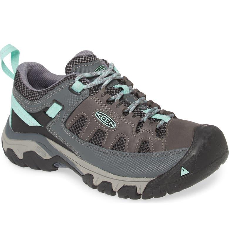 KEEN Targhee Vent Hiking Shoe, Main, color, STEEL GREY/ OCEAN WAVE LEATHER