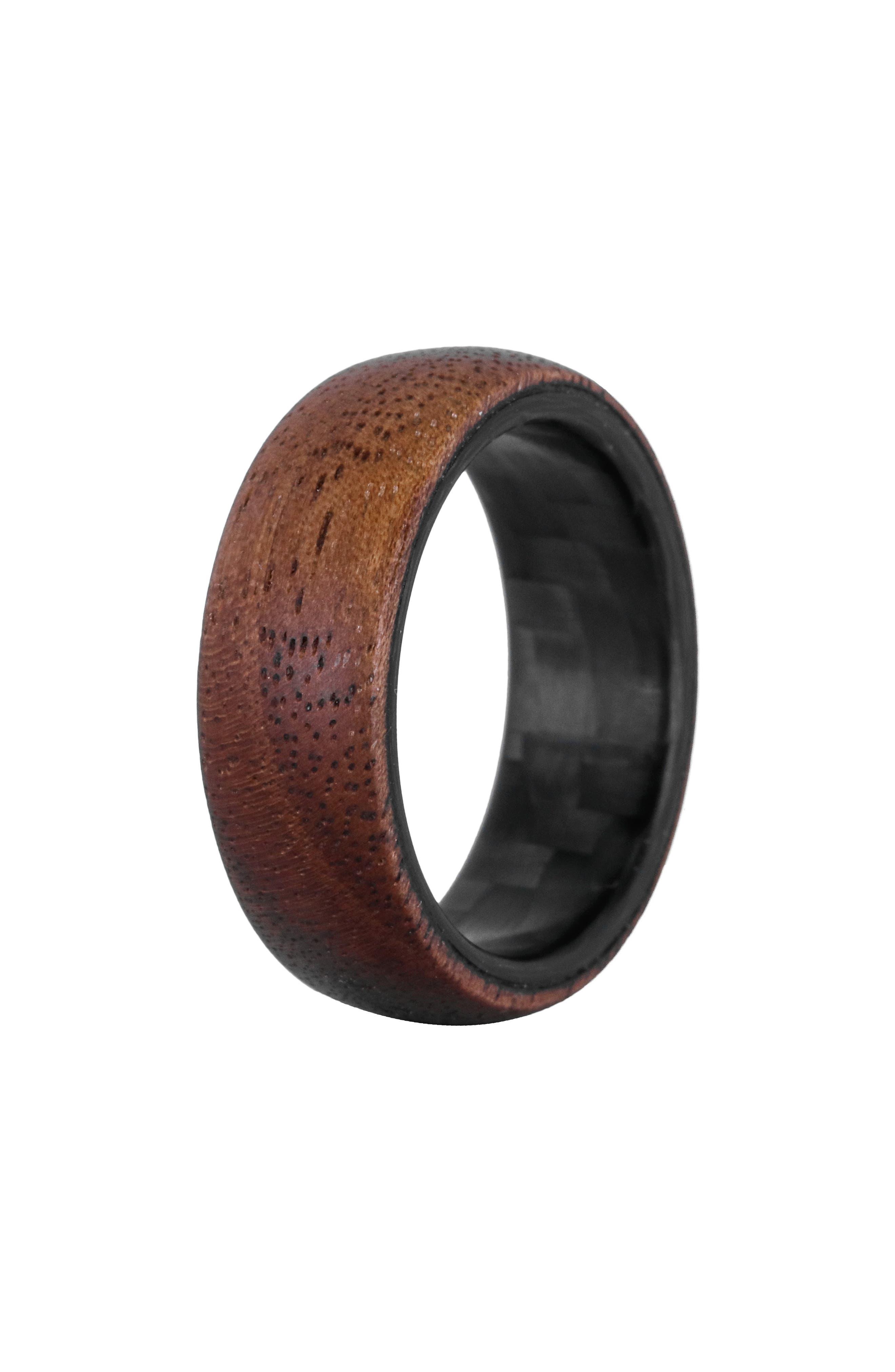 Walnut Wood & Carbon Fiber Ring