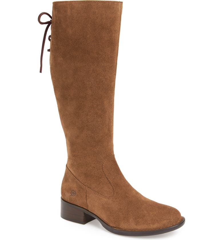 BØRN Cotto Tall Boot, Main, color, BROWN SUEDE