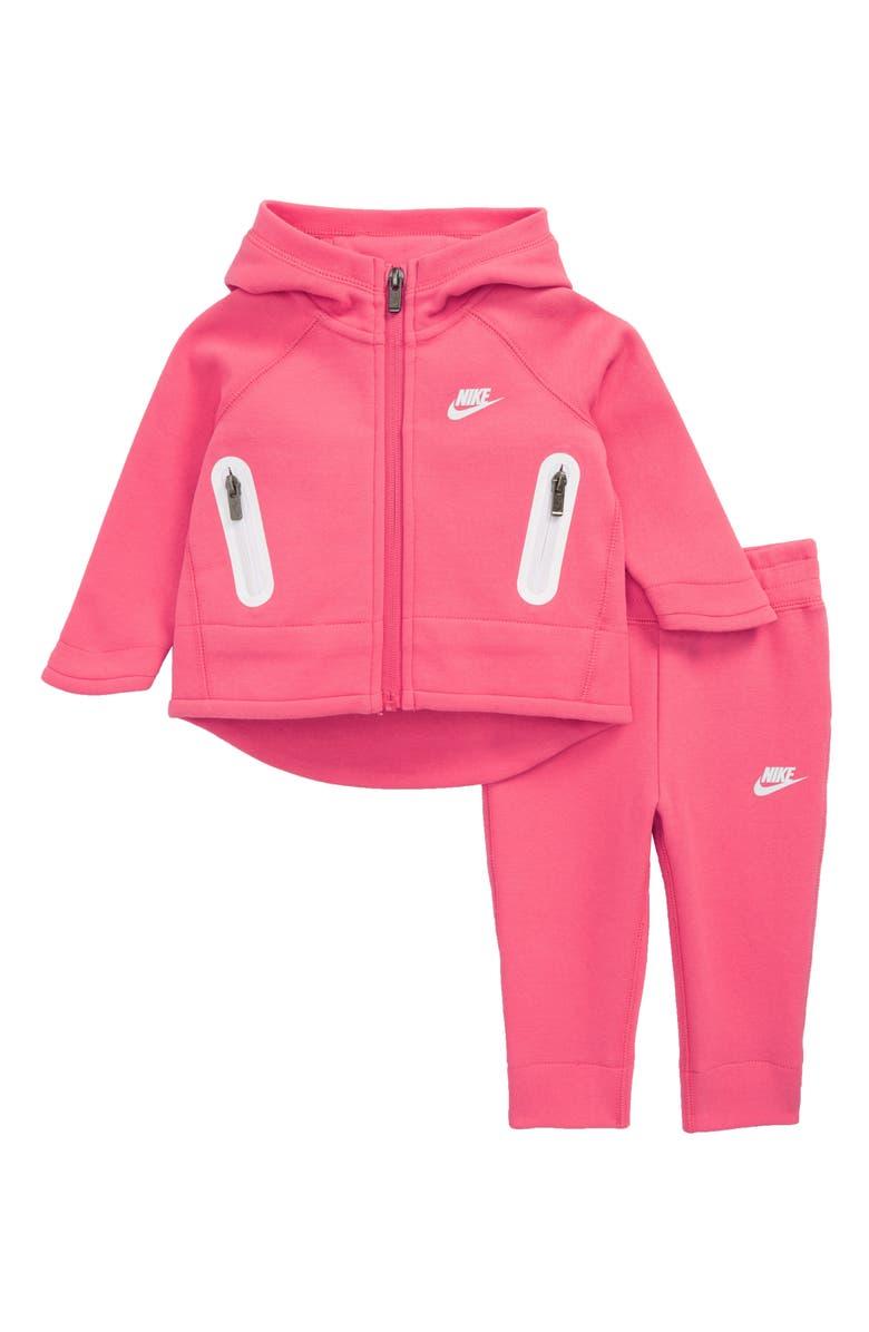 NIKE Pink Club Fleece Hoodie and Sweatpants Set