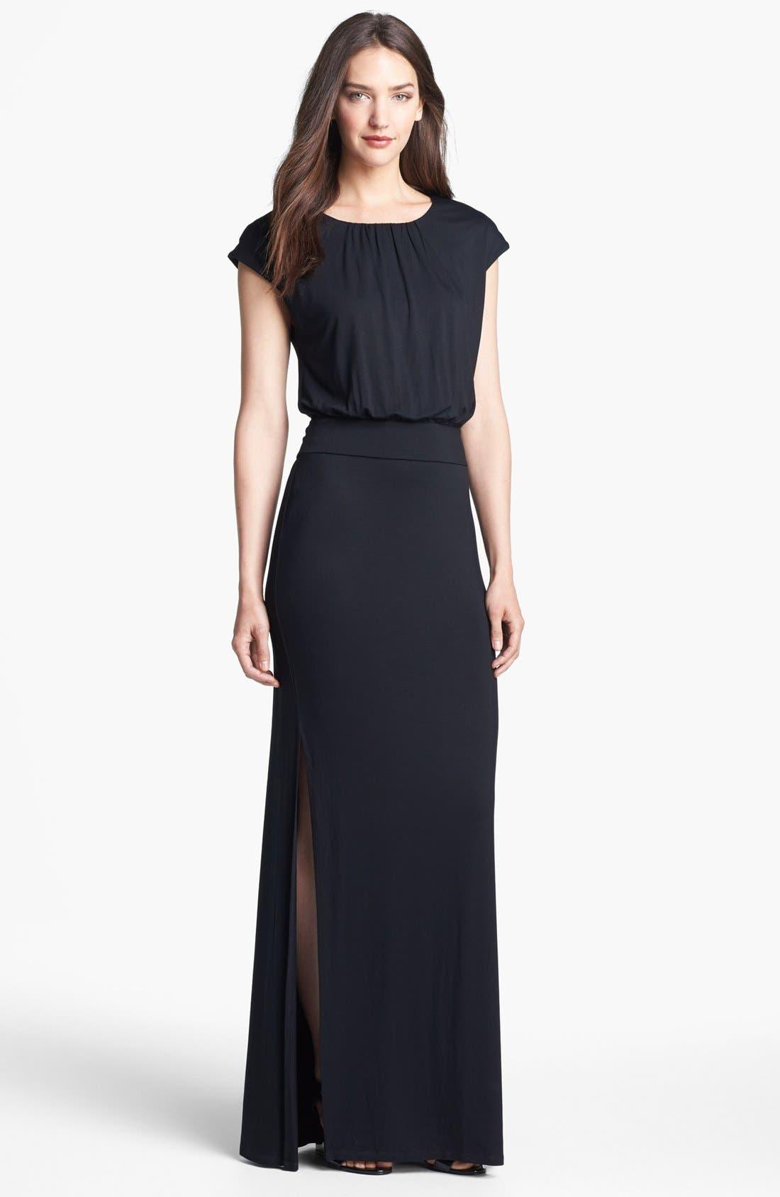 'Vienna' Blouson Maxi Dress, Main, color, 001