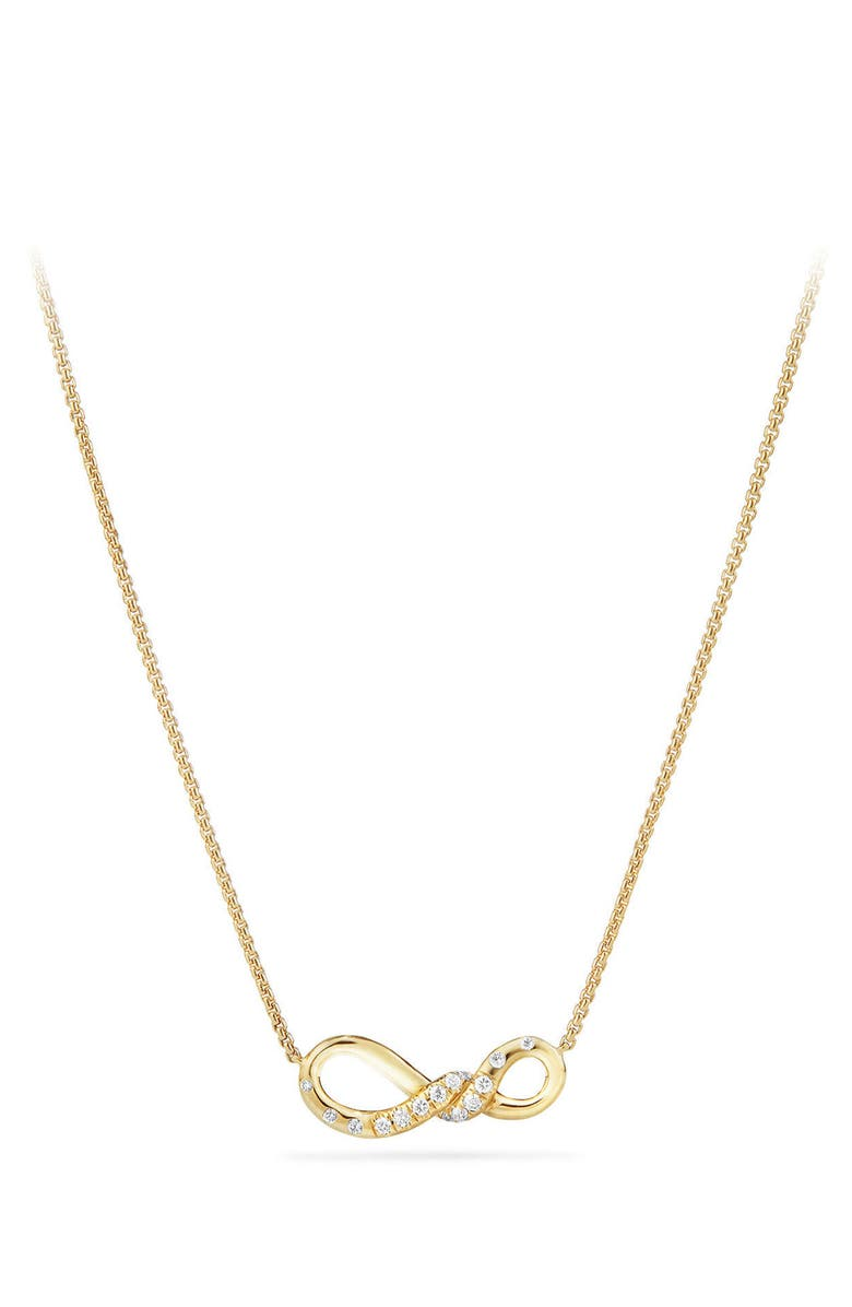 DAVID YURMAN Continuance Pendant Necklace in 18K Gold with Diamonds, Main, color, YELLOW GOLD