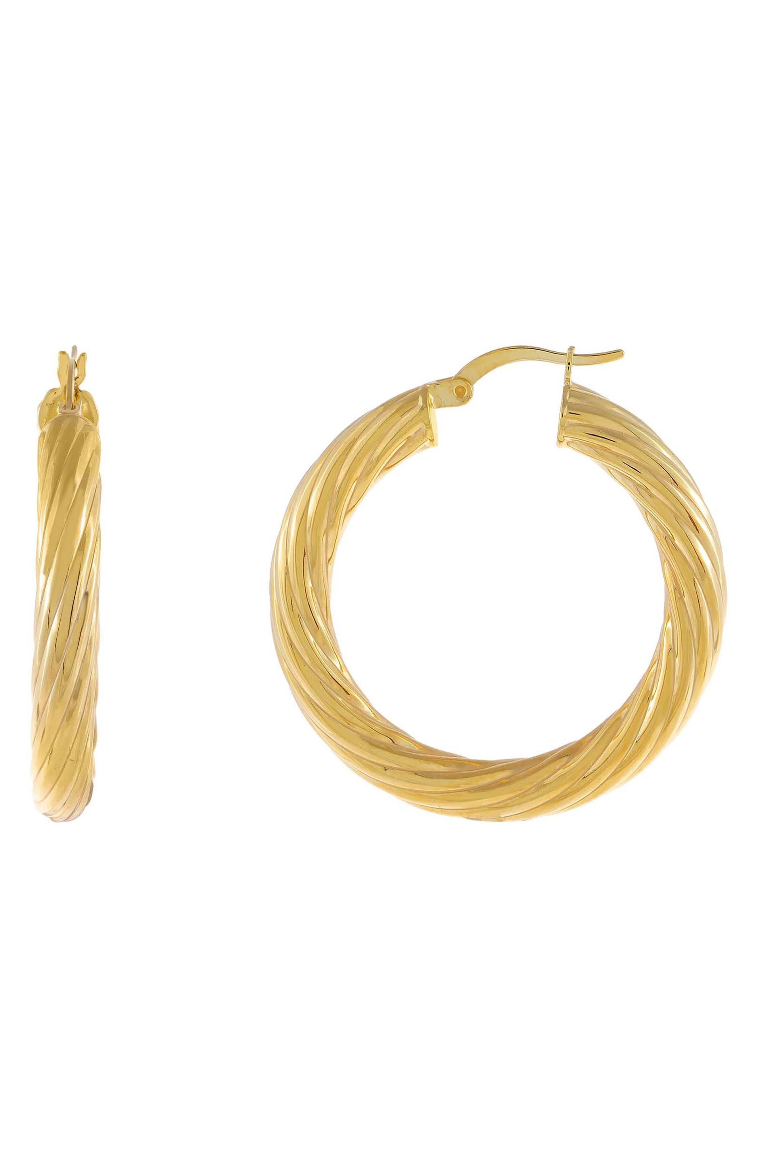 Women's Adina's Jewels Twisted Hoop Earrings
