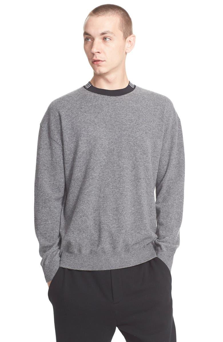 ALEXANDER WANG 'Barcode' Wool & Cashmere Sweater, Main, color, 037