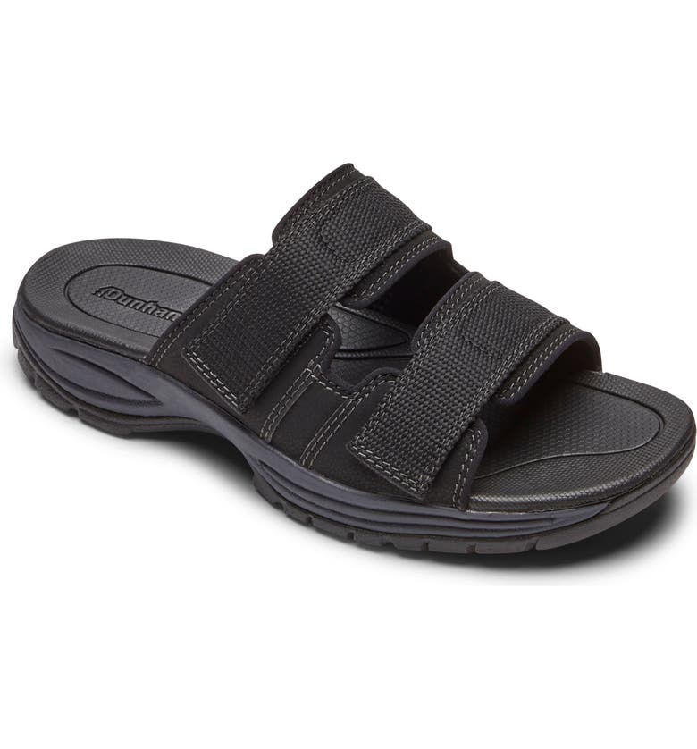 DUNHAM Newport Slide Sandal, Main, color, BLACK