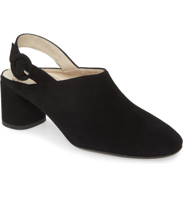 AMALFI BY RANGONI Ralph Slingback Mule, Main, color, BLACK SUEDE