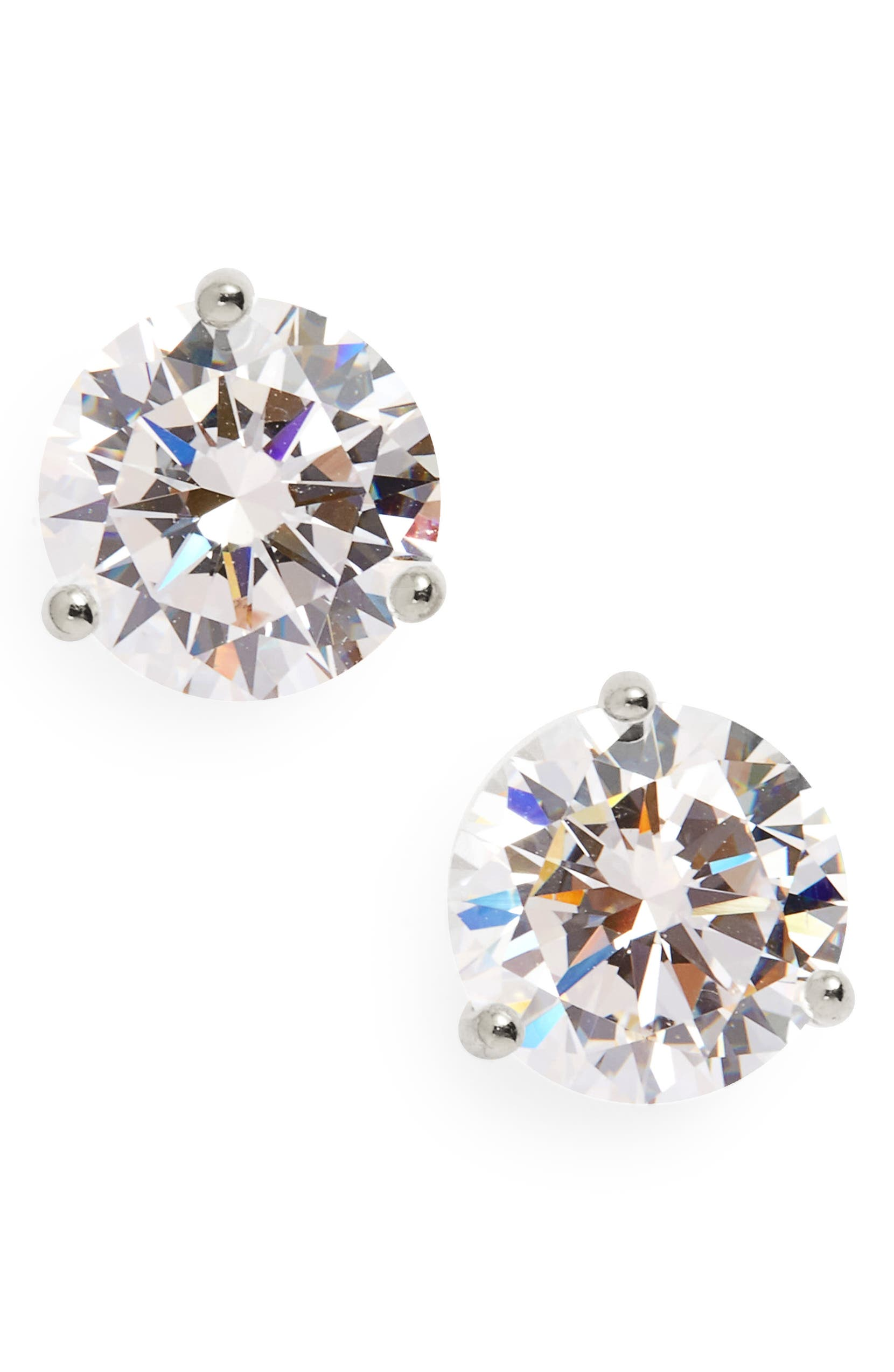 3 ct. CZ Stud Earrings