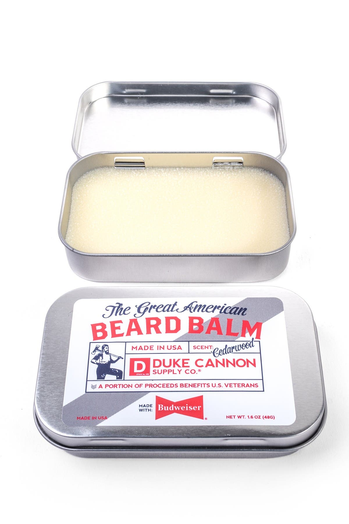 Image of DUKE CANNON Great American Beard Balm - Made with Budweiser