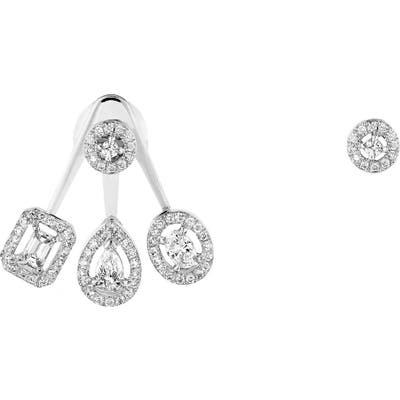 Messika My Twin Mono Mismatched Diamond Earrings