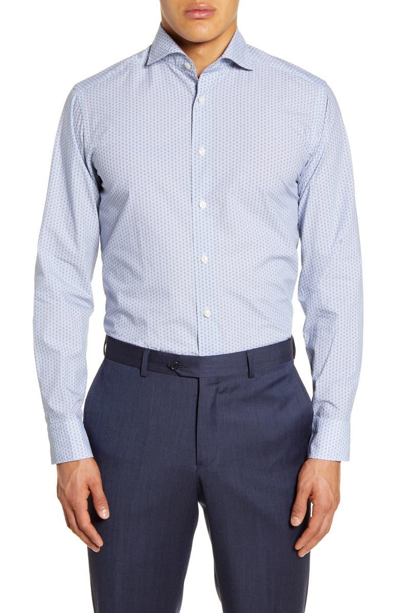 ETON Soft Casual Line Slim Fit Button-Up Shirt, Main, color, BLUE