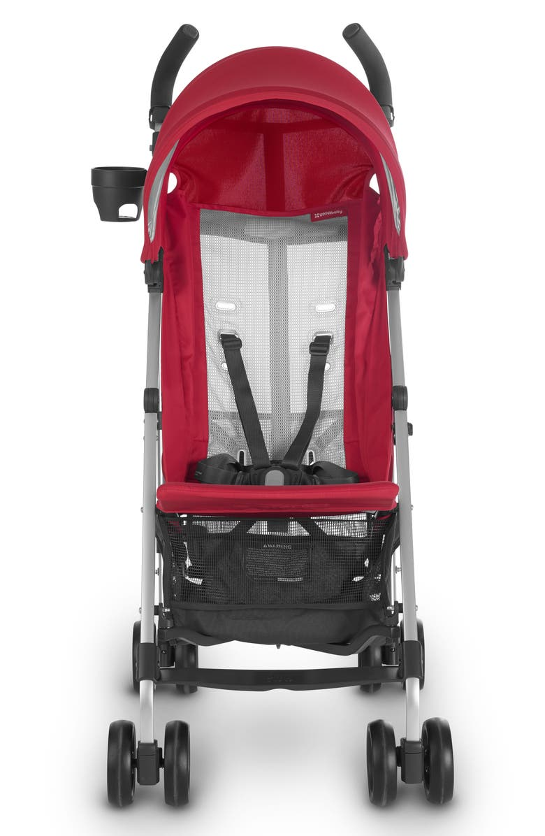UPPABABY G-LITE 2018 Stroller, Main, color, DENNY RED/ SILVER